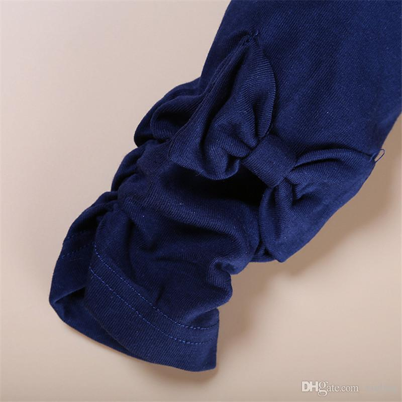 Cuentos infantiles JYT-132 ropa de niña niños niños niña manga larga establece camisetas y pantalones de diseño casual usa para envío gratis
