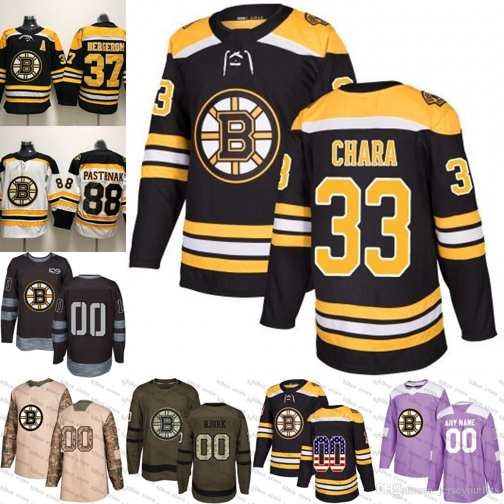 1e7f221ab 2019 2018 2019 Men S Boston Bruins 33 Zdeno Chara Ice Hockey Jersey Purple  Black White Army Green 100th Flat Usa Women Youth Size S 3XL From  Jerseyoutlets