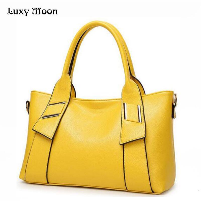 99552b6ebf 2019 Fashion 2018 Women Leather Handbags Famous Brand Women Shoulder Bags  Big Women Messenger Bag Bolsos Mujer Black Red Yellow Blue W805 Travel Bags  For ...