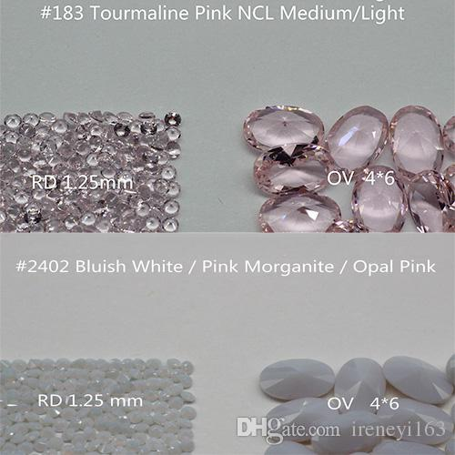 Pink Color 2mm Round Nanogem Crystal Facet Cut Top Quality Thermostable Synthetic Loose Gemstone For Jewellery Color A