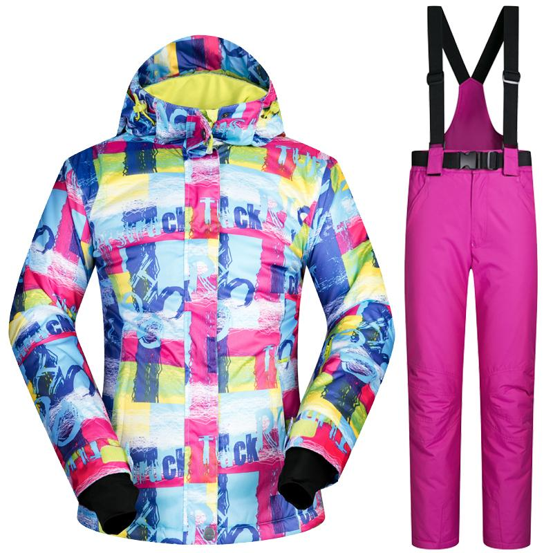 New Winter Ski Suit Women Outdoor Thermal Waterproof Windproof Snowboard  Jackets Pants Climbing Snow Skiing Clothes Set Brand Snowboard Jacket Pants  Snow ... bf19e1701