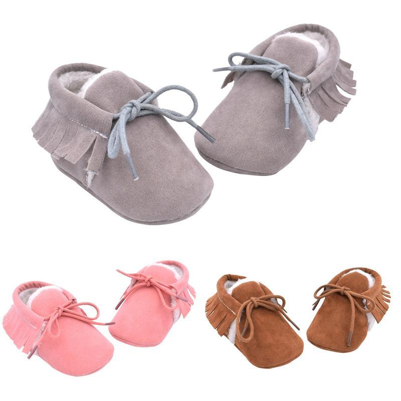 6478e7ce5af 2019 0 18M Toddler Shoes Autumn Winter Matte Texture Soft Bottom Tassel Baby  Shoes Handmade Warm Cotton Baby For Boys Girls From Newyearable