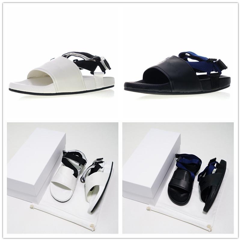 106d5175ee70 2018 Hot Sale Fashion Paris Luxury Designer Shoes Mens Women Lady  s Flat  More Sandals Brand Outdoors Leather Magic Sandal EUR 35-45