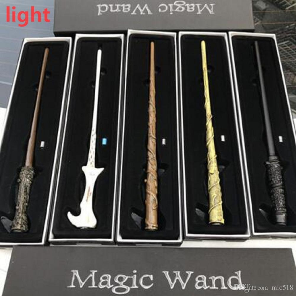 2019 led harry potter light up wand hermione dumbledore snape voldemort magic wand with box halloween gift 15 styles from mic518 805 dhgatecom