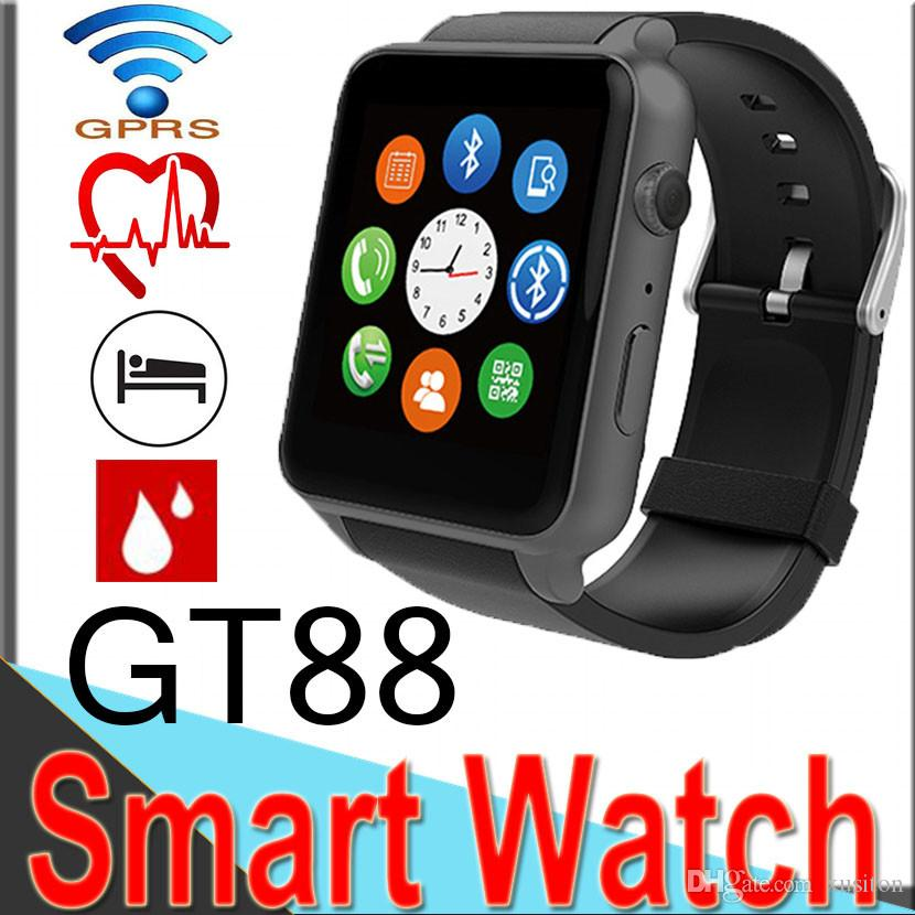 GT88 Smart Watch SIM Card Bluetooth Sports with Heart Rate Monitor and  Wristwatch Phone Mate Independent Smartphone for Android IOS XCTGT88