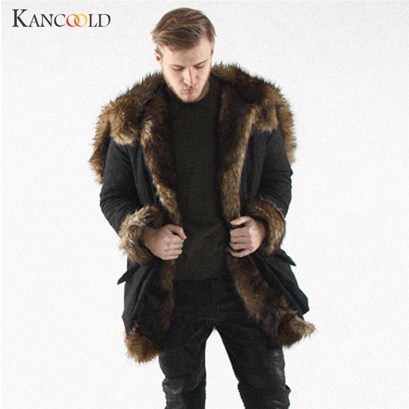 d2142431d58 2019 Jackets Bomber Jacket Men Long Coat Winter Faux Fur Cardigan Parkas  Warmer Plus Size Long Sleeve Outwear Jacket Bombers DC14A From Huoxiang
