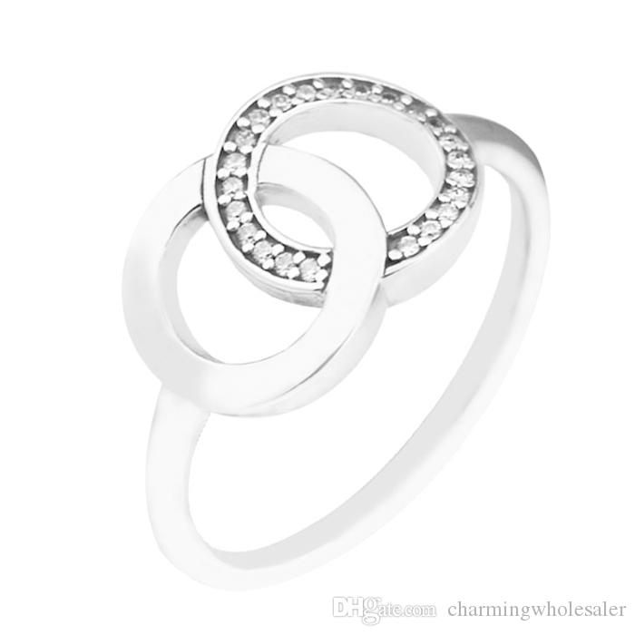 04138d974 Cheart Radiant Teardrop Rings S925 Silver Fits of Pandora Style ...