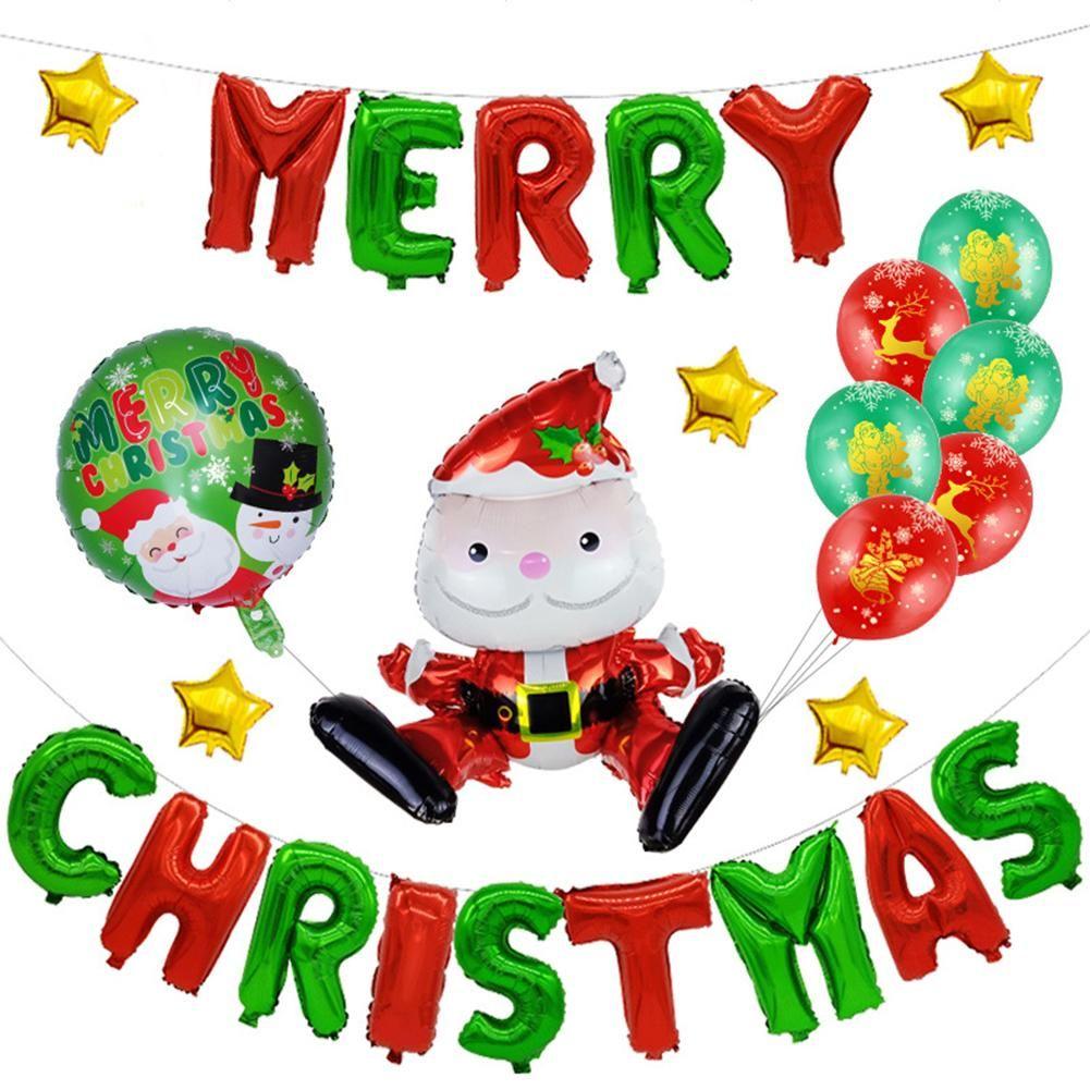 Großhandel Frohe Weihnachten Santa Claus Balloons Set Festival ...