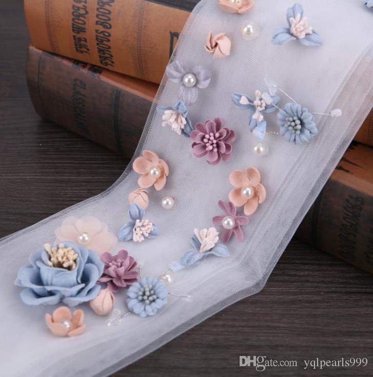 Çiçek saç elbise aksesuarları renk çiçek saç saç bandı ile gelin düğün peçe
