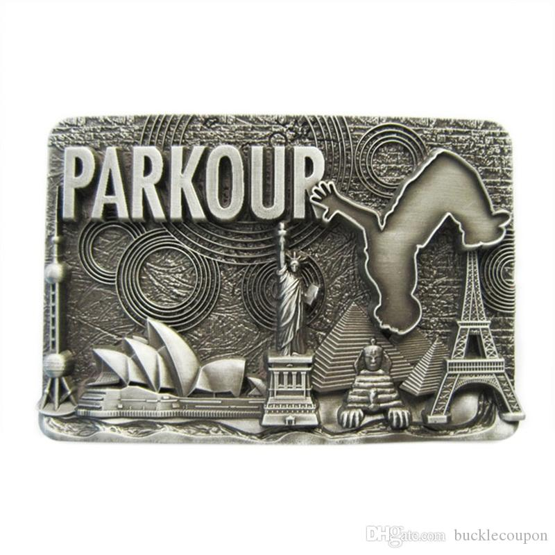 New Vintage Original Le Parkour Läufer Young City Sport Gürtelschnalle Boucle de ceinture