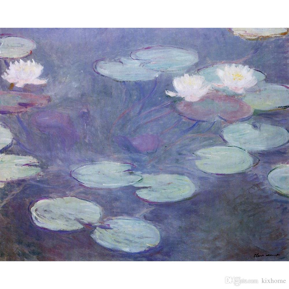 f589215c20f5ec 2019 Wall Art Oil Painting Pink Water Lilies Claude Monet Famous Artwork On  Canvas Hand Painted From Kixhome, $128.65 | DHgate.Com