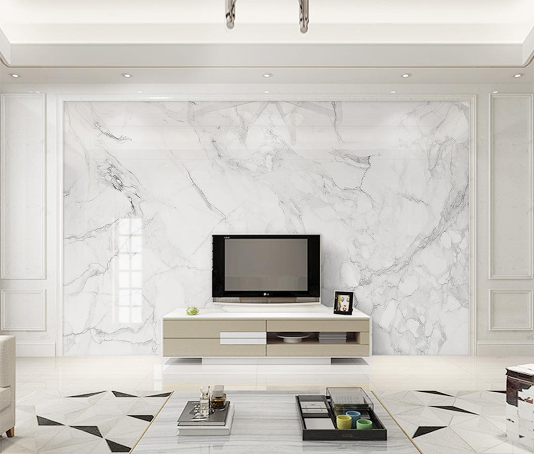 Modern Minimalist Jazz White Marble Background Wall Paper