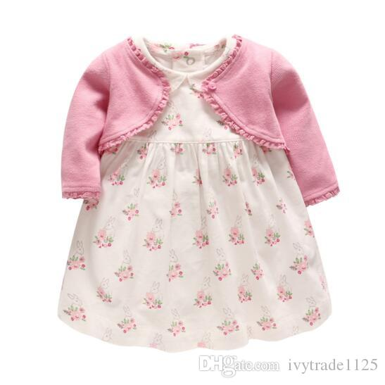 e7ee07052230 2019 Girls Dresses Long Sleeve Princess Dress Flower Design Girl ...