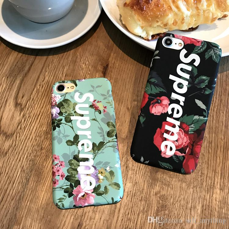 For Iphone X Phone Cases Flower Famous Brand Fashion Hard