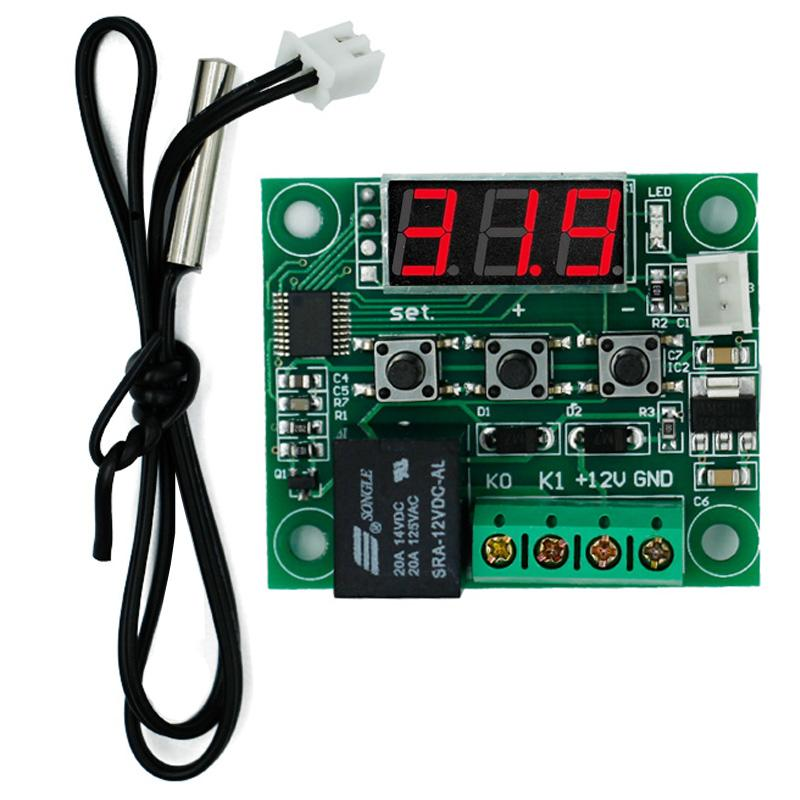 W1209 Digital LED DC 12V Temp Temperature Heat Cool Control Switch Module On/Off Controller Board + NTC Sensor 49% off