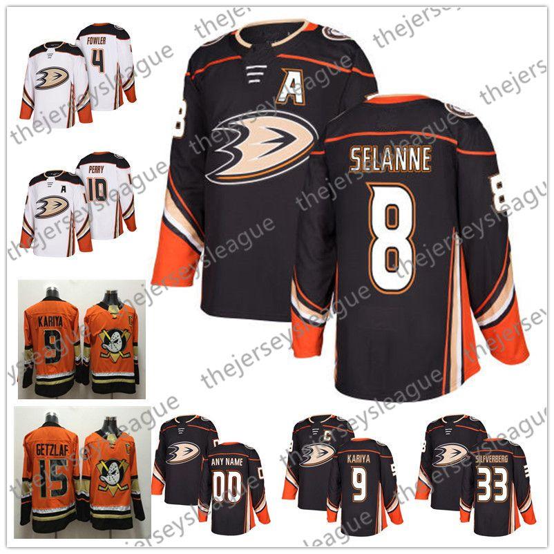 4a6e85df2 Anaheim Ducks 2018 New Brand  8 Teemu Selanne 9 Paul Kariya 35 Jean ...
