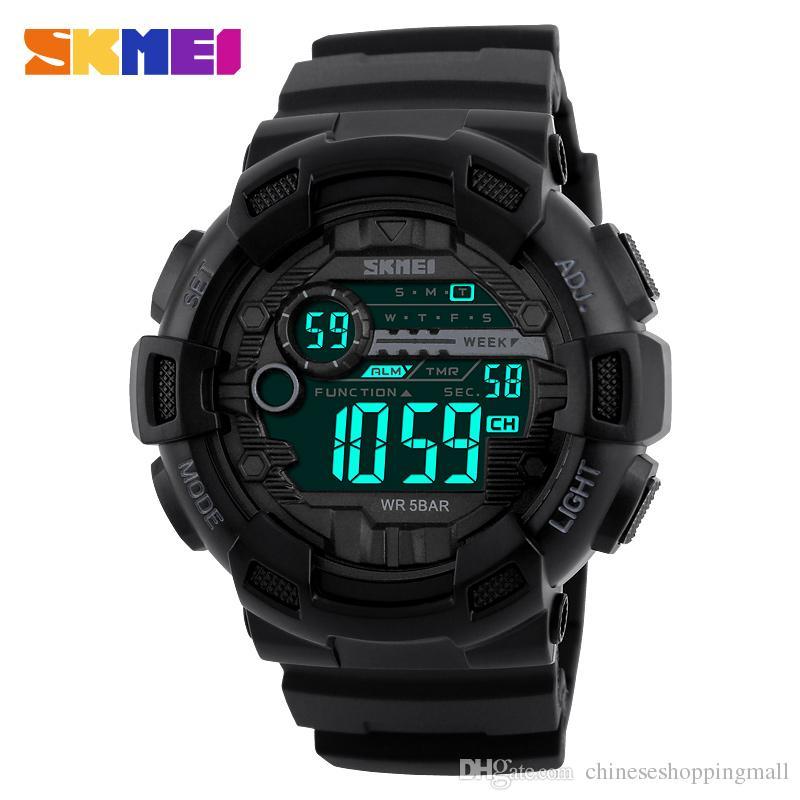 SKMEI Brand Men S Fashion Sport Watches Chrono Countdown Men Waterproof  Digital Watch Man Military Clock 90a55a13d8