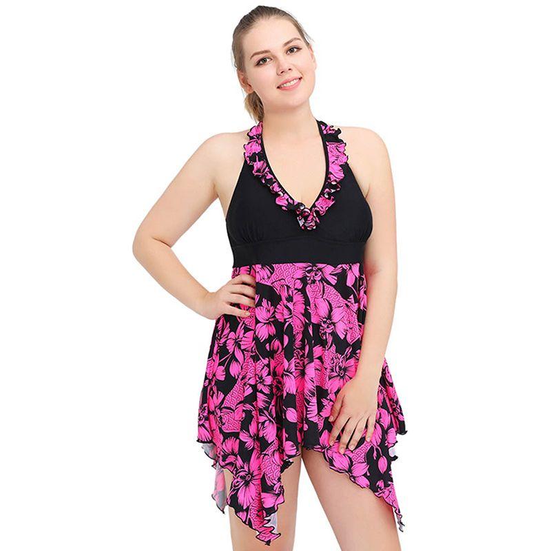 2018 Bandage 1 One Piece Swimsuit Women Push Up Plus Size Sexy Beachwear  Bathing Suit One Piece Women Swimwear Dress Plus 4xl 5xl 6xl From  Fashionsb 04a2c272347a
