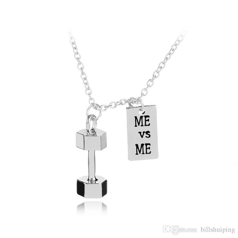 Forte é bonito / fraqueza é uma escolha Weighted Kettlebell charme pingente de colar de jóias de Fitness desportivo frete grátis