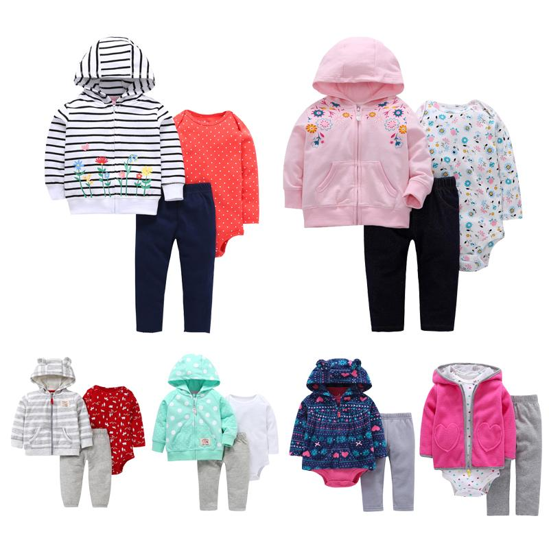 51a520befb2a 2019 Baby Girl Long Sleeve Outwear+Bodysuit+Pants Clothing Set For ...