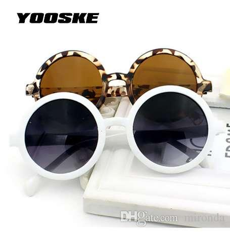 f14e3393e9f87 YOOSKE Retro Round Sunglasses Women Colorful Coating Mirror Sun Glasses  Vintage Men Famous Brand Shades Eyewear UV400 Womens Sunglasses Sunglasses  Sale From ...