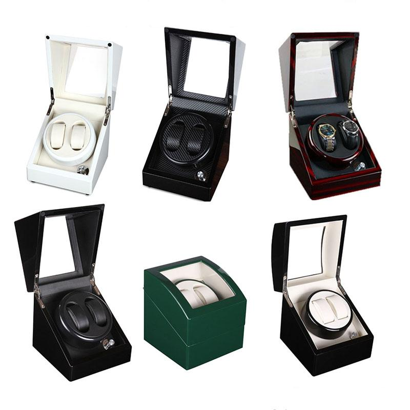 2+0 Full Color Wooden Automatic Watch Winder Remontoir Montre Automatique  Caja Fuerte Watches Automatic Relogio Box Hour Winder Best Watch Case Watch  Cases ...