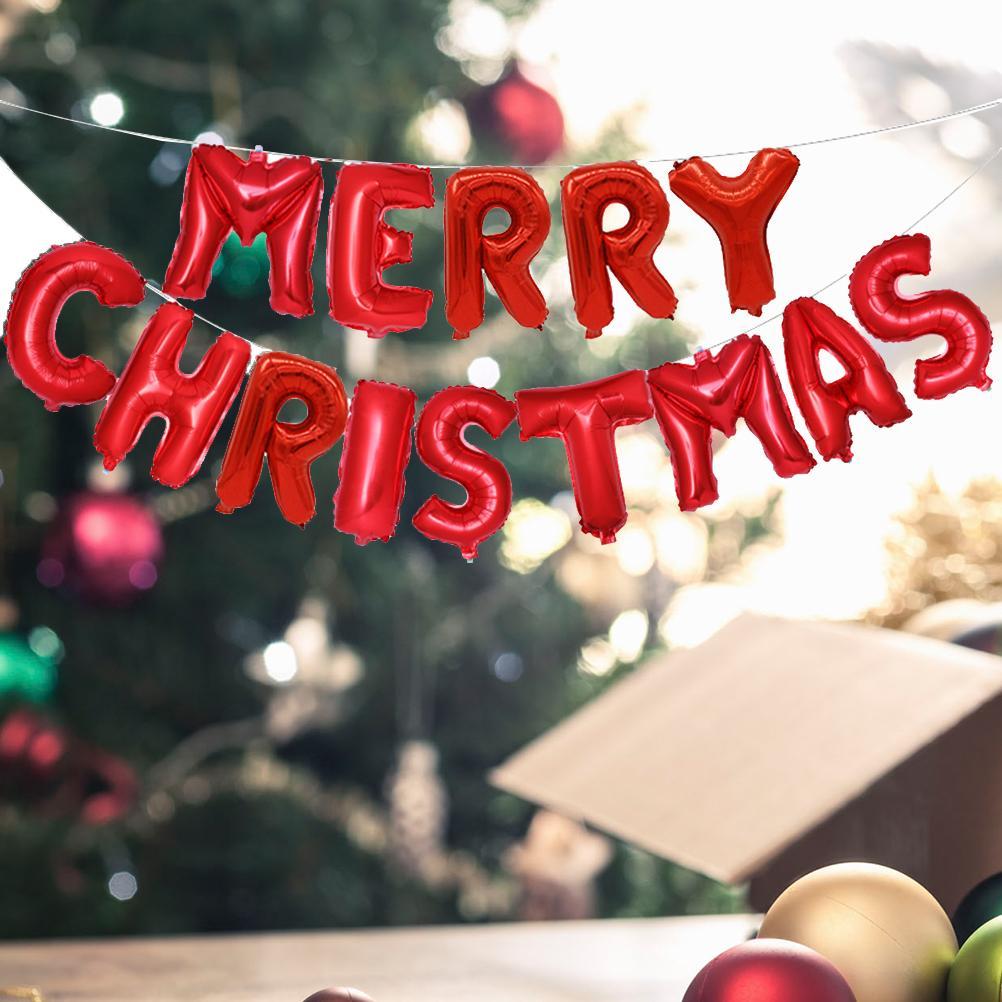 Buchstaben Frohe Weihnachten.Frohe Weihnachten Ballons Party Dekoration Ballons Frohe Weihnachten Buchstaben Banner 16 Zoll Festliche Urlaub Dekorationen