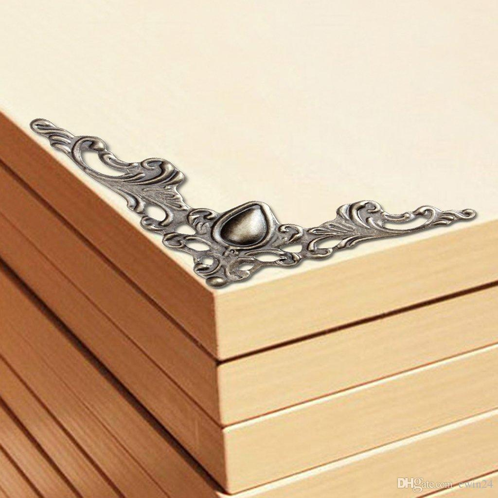 Vintage Style Metal Box Corner Protector Guard Desk Edge Cover ...
