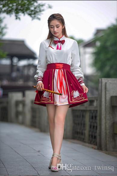 3e2f861db8 2019 Ancient Style Women S Dress Student Hanfu Girl Improved Autumn Wear  The Traditional Chinese Style Of Chinese Style Women Han Elements Skirt  From Twinsq ...