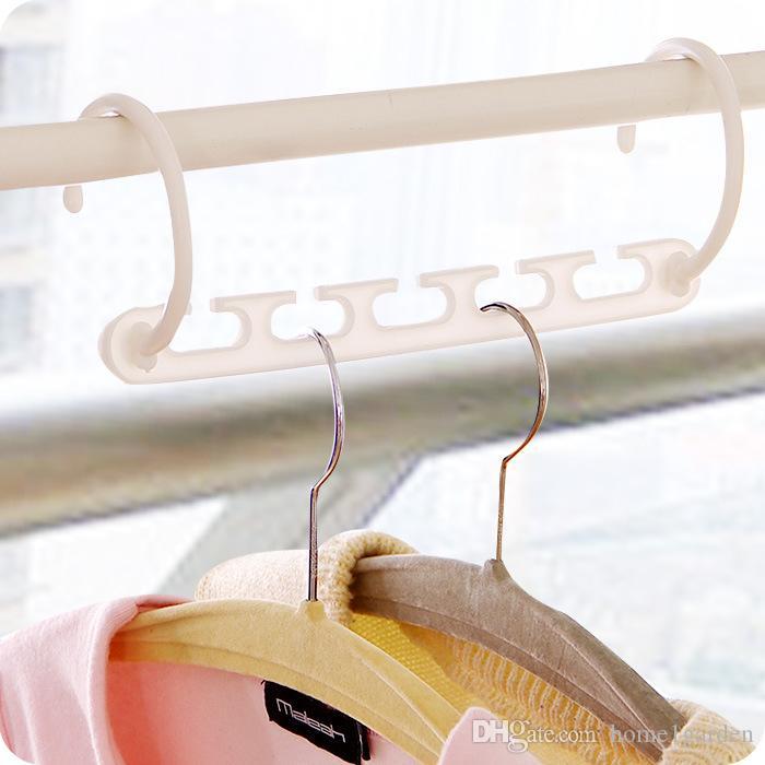 Organizador de armário mágico das cremalheiras das roupas da economia do espaço do gancho de roupa 3D com gancho
