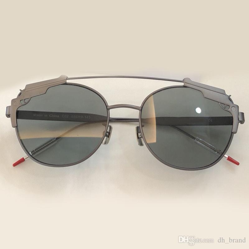 99ce19c2807 Alloy Frame Round Sunglasses High Fashion Sunglasses UV400 Vintage Retro  Half Frame Sun Glasses For Man With Original Box Foster Grant Sunglasses  Spitfire ...