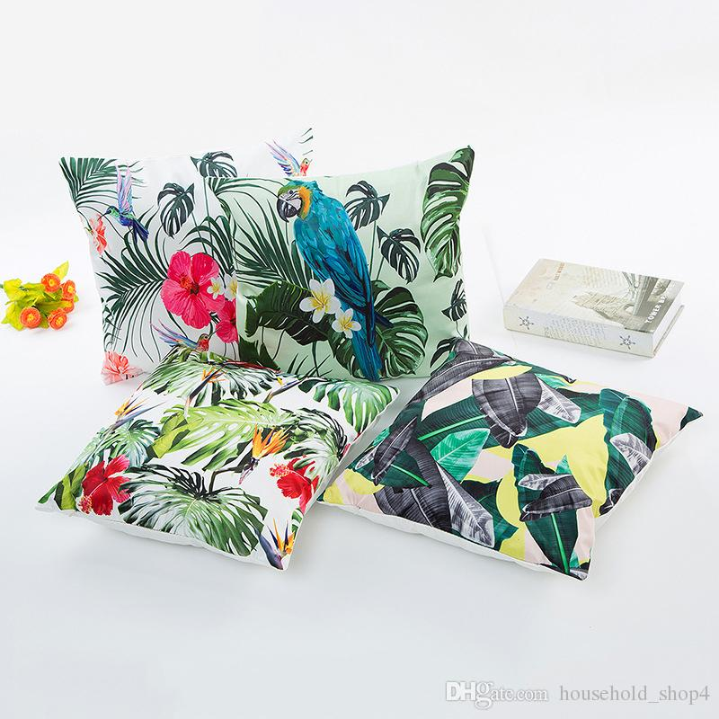 Cuscino le piante verdi estive foglie tropicali cuscino federa stampa hawaii stampa digitale cuscino home decor copridivano cuscino