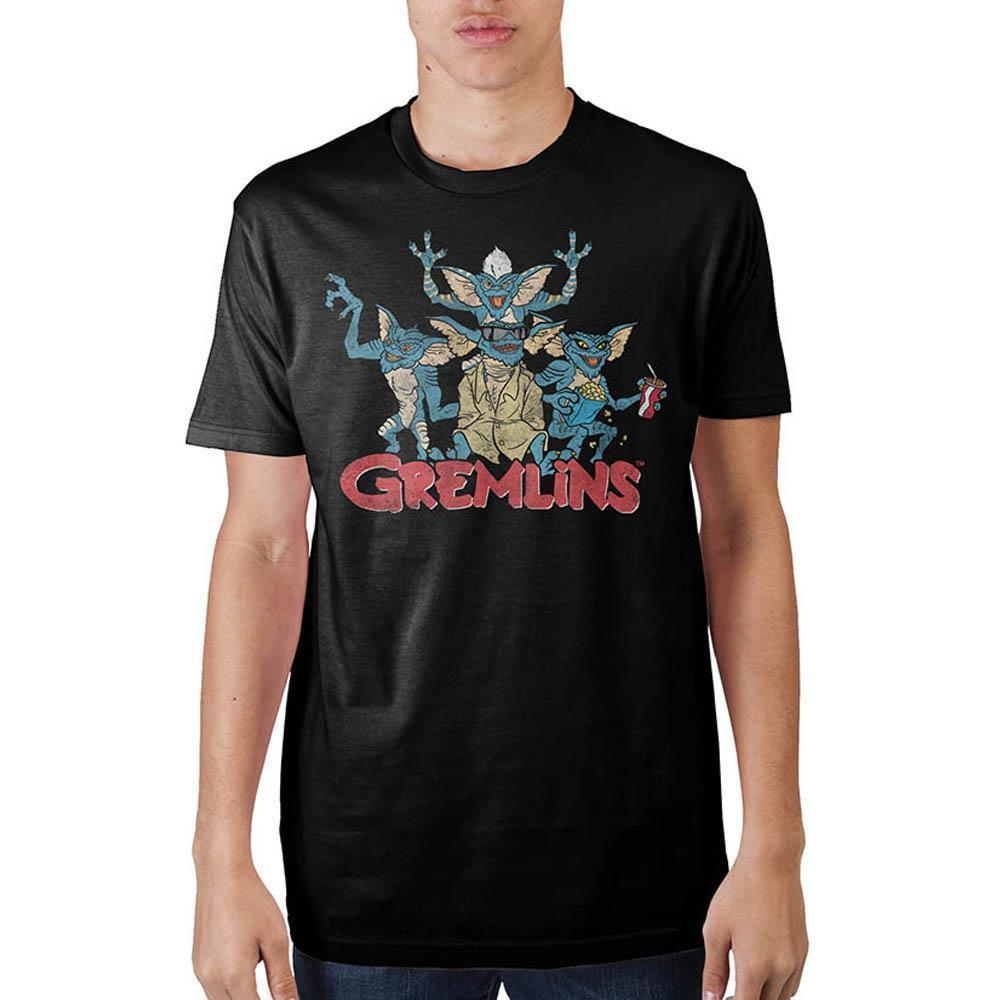 6ea10b44 Gremlins Group Black T-Shirt Summer Short Sleeve Shirts Tops S~3Xl Big Size  Cotton Tees Leisure Sweat Cool Online with $16.29/Piece on Shitan9's Store  ...