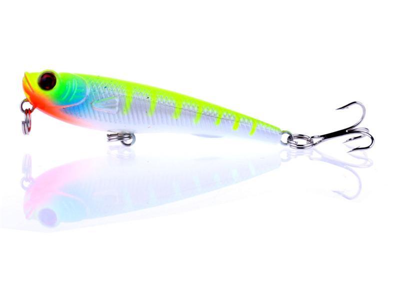 Tatlısu yüzey Trolling dalış Hareket Yapay Plastik Yem 7 cm 6.7g Kalem Krank yem Lazer Sert cazibesi