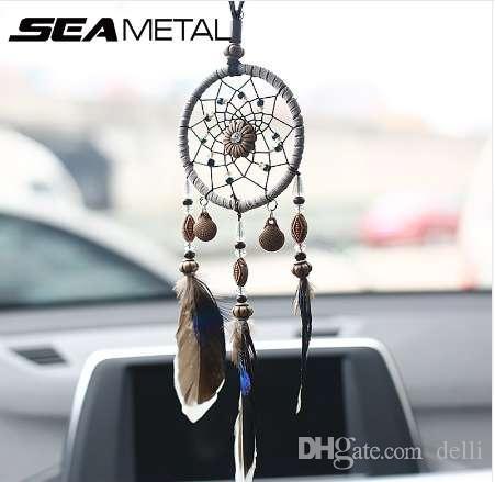 Car Pendant Ornaments Hanging Handmade Dream Catcher Indian Mirror