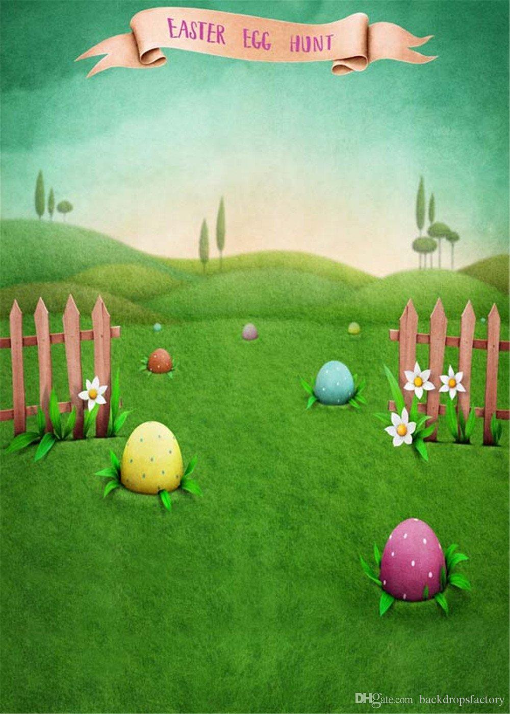 2019 Easter Egg Hunt Photography Backdrops Vinyl Printed ...