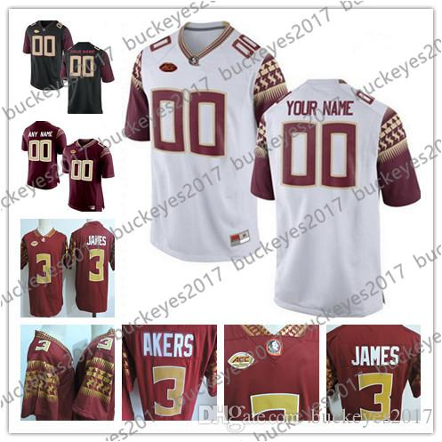 Custom Florida State Seminoles Any Name Any Number Red Black White ... 85a6e0d4f