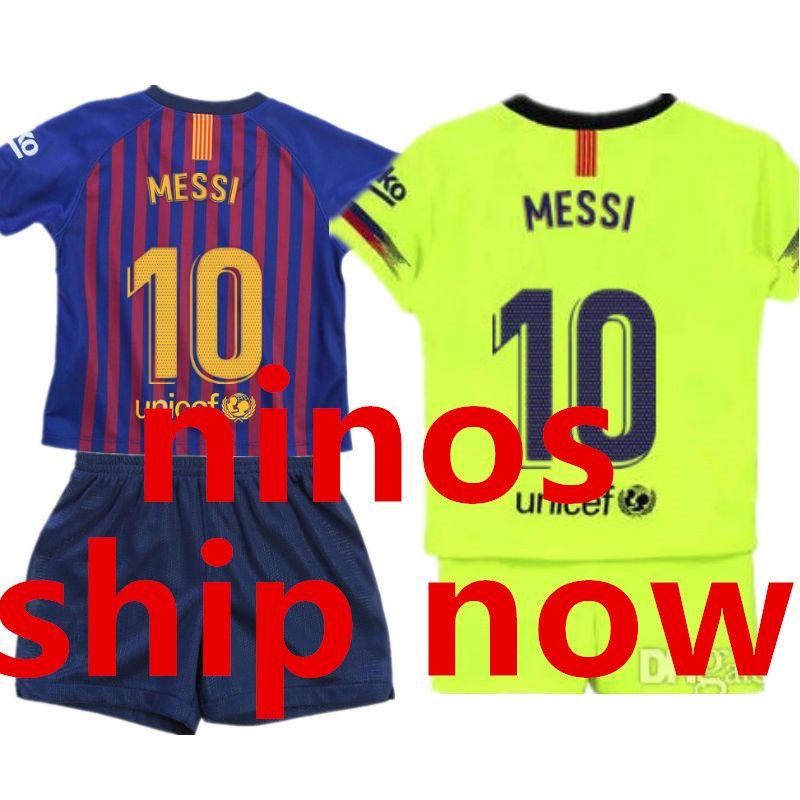 2019 18 19 Kids Soccer Jersey Sets 2018 2019 Children Camisetas De Futbol  Ninos Camisas Home Away Boys Teens Football Kit Uniform Shirt Short From  Wc2018 4febf00f51d7f