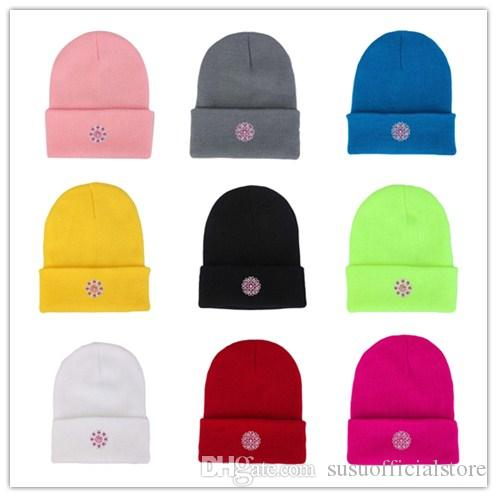 dbbee08fb1f 2018 Winter Hats for Women Knitted Wool Warm Outdoor Ski Hats Lady ...
