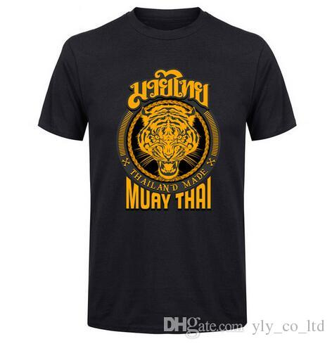 c96c0693f21 Muay Thai Tiger T Shirt Men Round Neck Men MMA Thailand Ultimate Fighting  Martial Art Short Sleeve Design Tshirt Teenage T Shirt Funny T Shirts For  Women ...