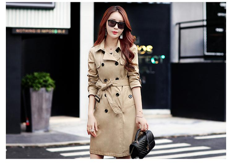 2018 Autumn New Fashion Brand Woman Waterproof Raincoat Business Outerwear Classic Double Breasted Trench Coat Plus size 4XL