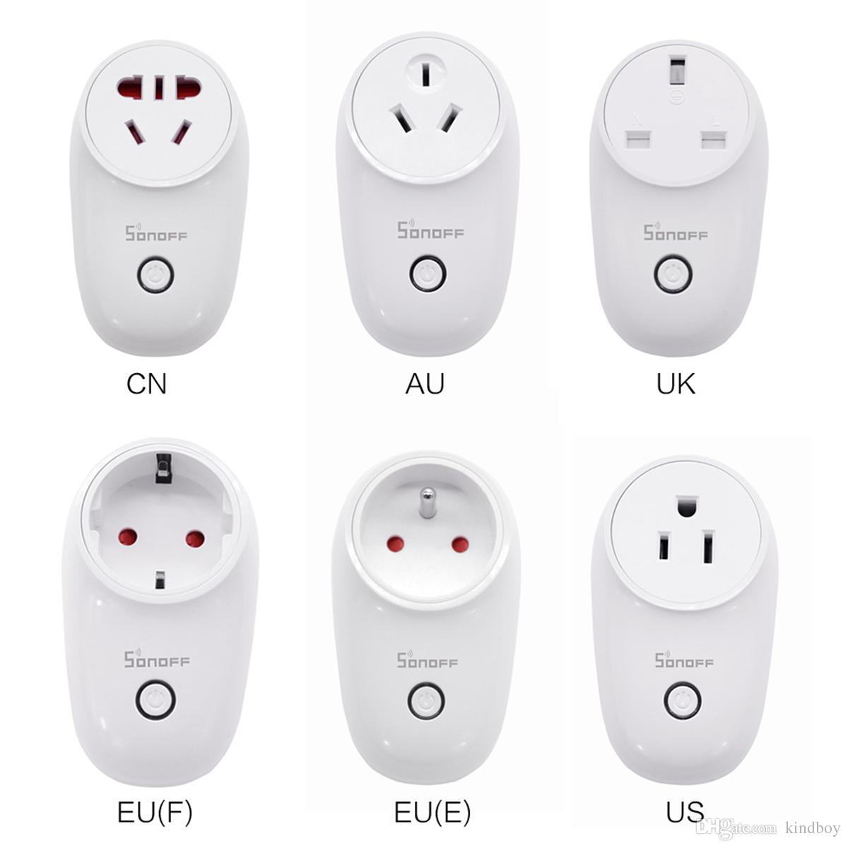 Sonoff S26 WiFi Smart Socket US/UK/CN/AU/EU Wireless Plug Power Sockets Smart Home Switch