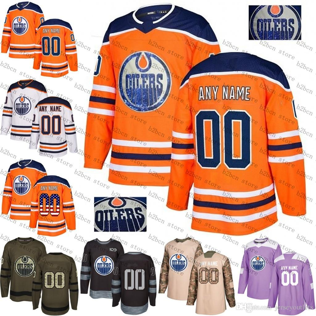 3f927e0ed 2019 2018 Custom Mens Women Youth Edmonton Oilers 97 McDavid Leon ...