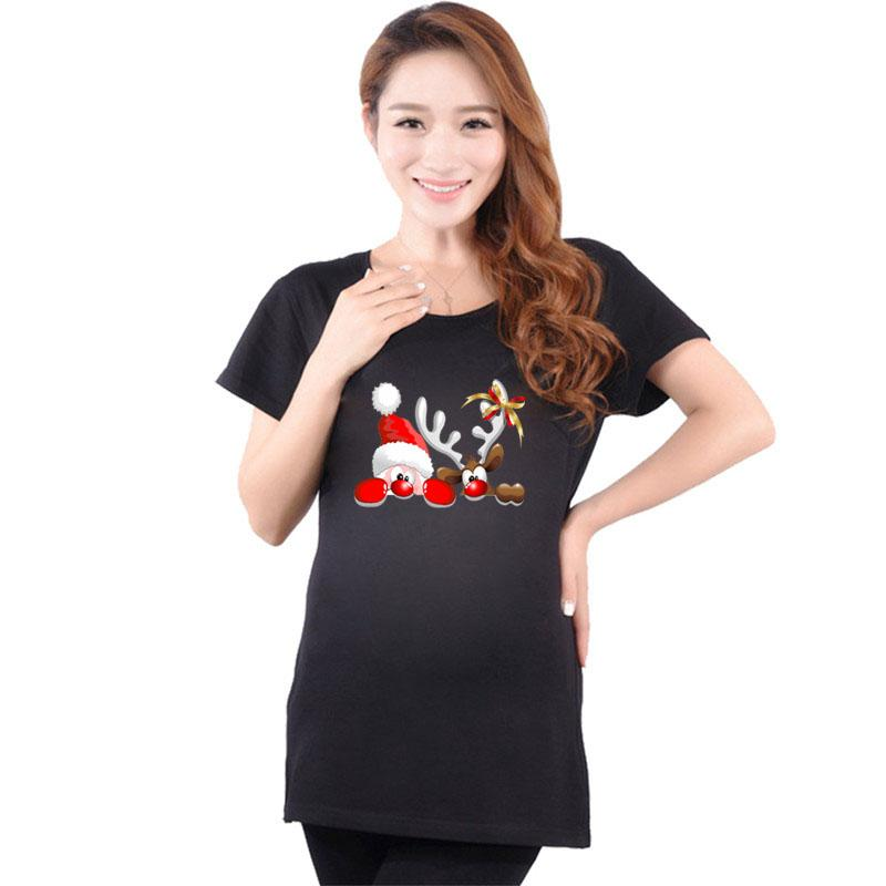 d0d8964bd 2019 New Pregnant T Shirts Funny Maternity Tops Cotton Pregnancy Tees Short  Sleeve Print Santa Maternity Clothes For Pregnant Women From Friendhi, ...