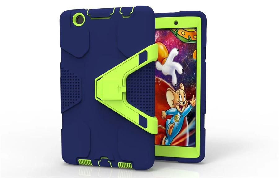 Case For LG Tablet PC V498 V496 V495 V525 V520 V521 Kids Safe Shockproof Heavy Duty Robot Silicone Hard Cover kickstand 3 in 1 hybrid shell