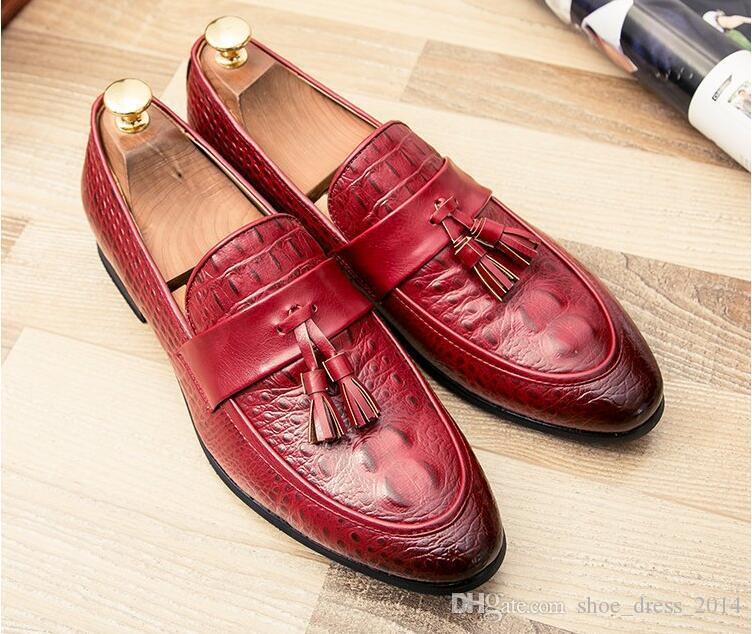 Men Casual Shoes 2018 Fashion Men Shoes Leather Men Loafers Moccasins Slip  On Men s Flats Loafers Male Shoes Men s Casual Shoes Genuine Men Shoes Men  ... 8c43ecd544d7