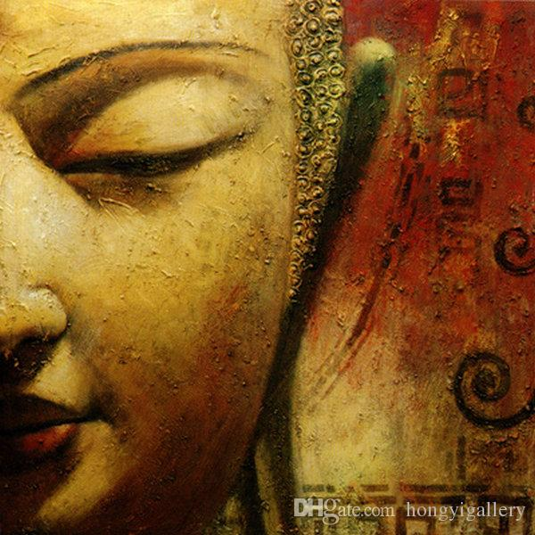 Buy Cheap Paintings For Big Save, Handpainted Feng Shui Zen Buddha ...