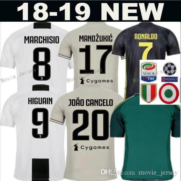 39cb934a10 Compre 2018 2019 Camisola De Futebol Juventus FC Homens Kits 9 HIGUAIN 10  PLATINA 21 PIRLO 10 BAGGIO 7 DESCHAMPS Camisa De Futebol Fazer  Personalizado De ...