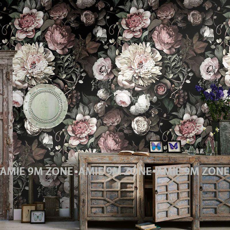 Compre Fondos De Pantalla Personalizado Clasico Vintage Flores