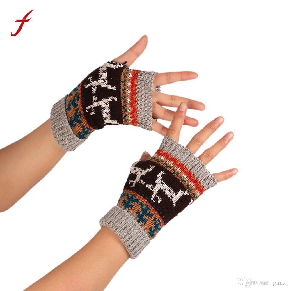 e9ba23aa7455e 2019 2017 Hot Fashion Knitted Arm Fingerless Winter Gloves Unisex Soft Warm  Mitten Fingerless Gloves Female Glove Glove For Women From Guazi, ...